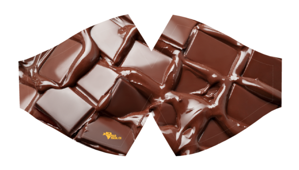 Masque protection covid chocolat