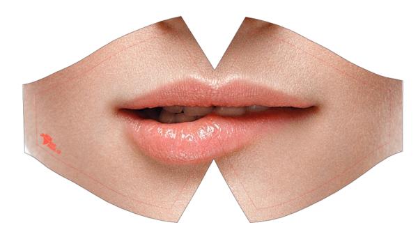Máscara preventiva lavable Labios