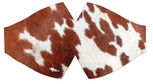 Masque de protection design vache