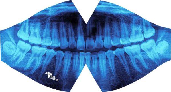 Máscara protectora lavable de diseño Rayos X