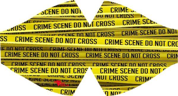 Masque de protection fun Scène de crime