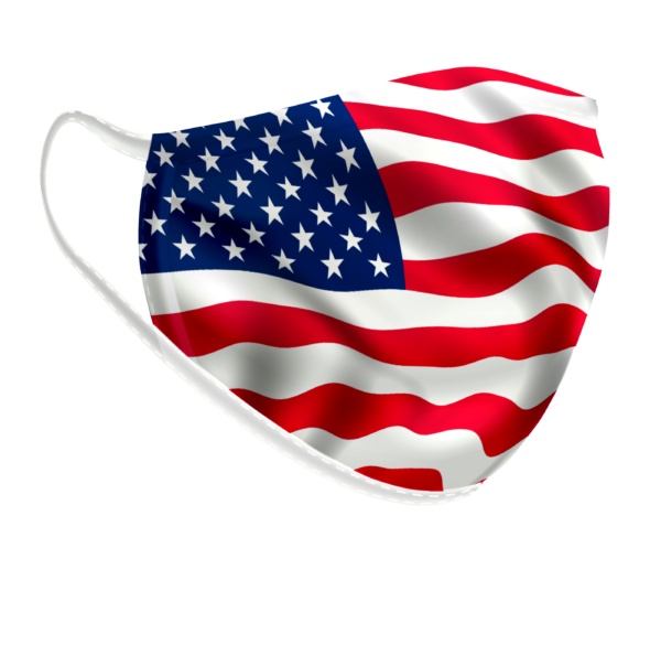 Maschera lavabile Bandiera americana