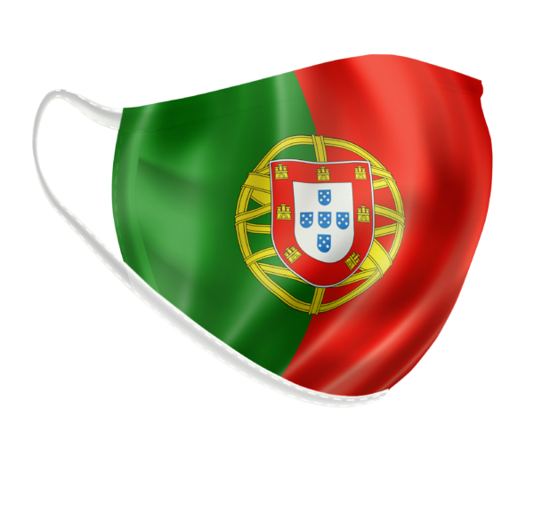 Masque lavable couleurs drapeau portugal