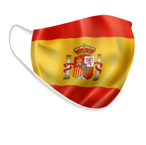 Máscara bandeira espanhola